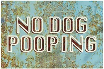 Ghost Aged Blue Heavy-Duty Outdoor Vinyl Banner No Dog Pooping CGSignLab 12x8