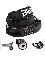 Bike Lock, Security Anti-theft Bicycle Chain Lock-No Keys Required- Open with Password 7mmx900mm, 860g- Blusmart