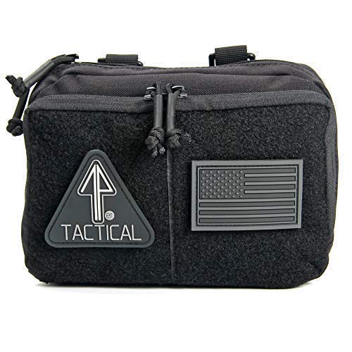 Admin Pouch - 14er Tactical MOLLE Admin Pouch   1000D Ballistic Material & YKK Self-Healing Zippers   Flag Patch Panel & MOLLE Compatible PALS   CAT TQ Straps, EDC, Utility, Hiking, IFAK, Tool Pack