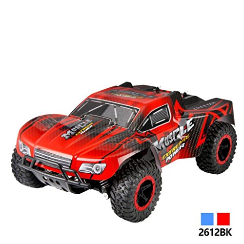 Outsta Radio Remote Control Car, 1:16 Scale Car,2.4GHz High Speed RC Racing Car 4WD Remote Control Truck Off-Road Buggy Toys Truck Vehicle Electric Cars Gift for Boys (Red) ()