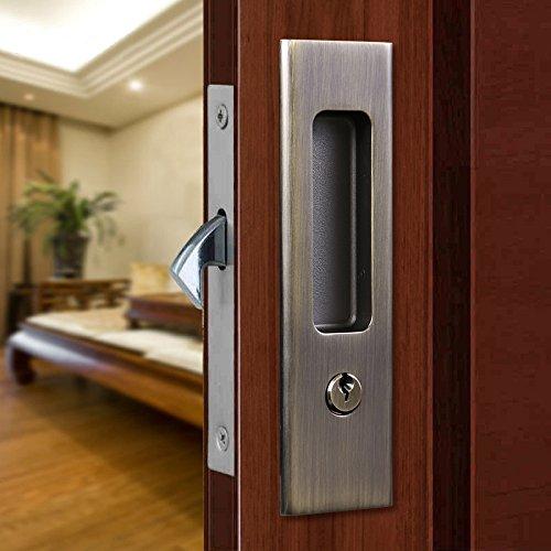ccjh Invisibleドアロックハンドルのキースライド式バーン木製ドア家具ハードウェア Red Copper DL00 B01IQX5WV4 11640 Red Copper  Red Copper