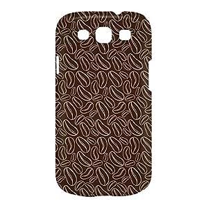 Coffee Samsung S3 3D wrap around Case - Chocolate Brown