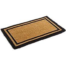 """Black Border Coco Coir Doormat - Heavy Duty Doormats - 22"""" X 36"""""""