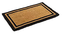 Black Border Coco Coir Doormat - Heavy Duty Doormats - 22\