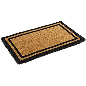 Black border coco coir doormat heavy duty for Door mats amazon