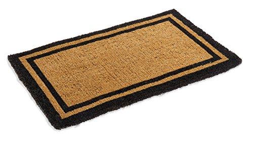 Black Border Coco Coir Doormat - Heavy Duty Doormats - 22
