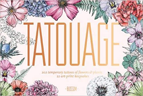 Tatouage Blossom 102 Temporary Tattoos Of Flowers Plants And 21