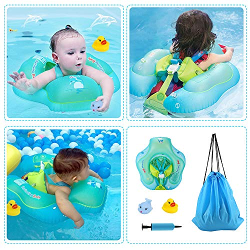 Delicacy Baby Swimming Float, Baby Inflatable Floats Ring Safety Belt Bathtub Swimming Pool Suitable for 6-36 Months,Size L [Upgraded Version] by Delicacy (Image #5)