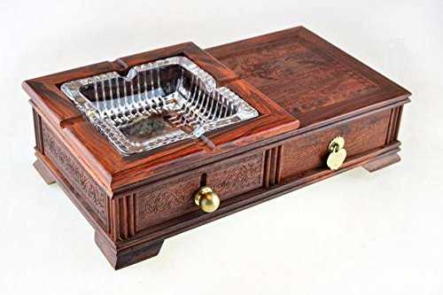 GTVERNHRosewood ashtray, mahogany carved furniture ornaments, high-end fashion creative practical ashtray by GTVERNH