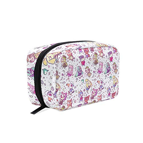 Cosmetic Bag Portable and Suitable for Travel Animal Crossing Pattern Make Up bag with Zipper Pencil Bag Pouch Wallet ()