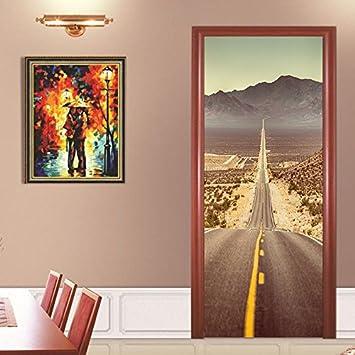 S.Twl.E 3D Desert Highway verschönern Pvc Aufzug Wandbild abnehmbare ...
