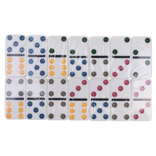 MonkeyJack Double Six Domino Set of 28 Pcs Board Kid Travel Game Toy Colorful Dot White by MonkeyJack (Image #9)