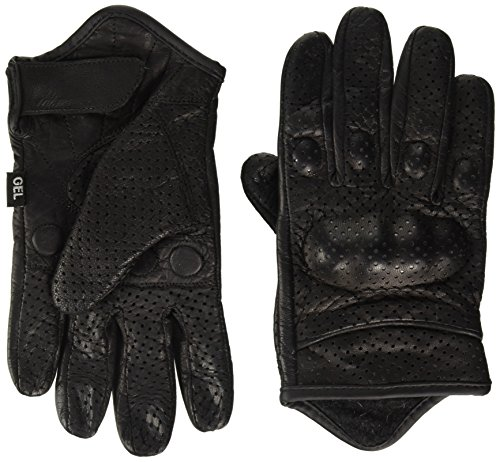 Shaf International Men's Perforated Leather Gloves (Black, X-Small)