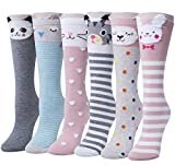 Fasker Kids Girl Animal Knee High Socks Cute Girls Cartoon Long Socks Stockings