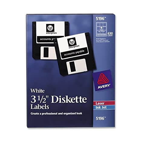 amazon com avery laser diskette labels 2 3 4 x 2 3 4 single pack