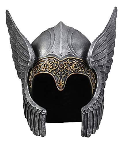 Ebros Norse Viking Mythology Poetic Edda Goddess Valkyrie Angelic Helmet Decor Sculpture 13.25
