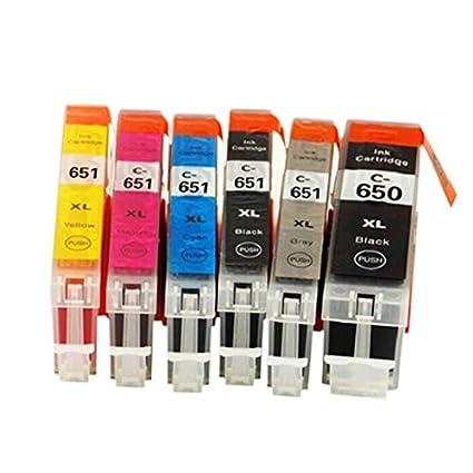 6 Color para Canon 650 651 pgi650 cli651 impresora cartucho de ...