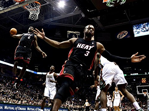 Poster Gallery Lebron James Alley-oop Dwayne Wade Miami Heat Printing wall poster wbp03858 30x40cm