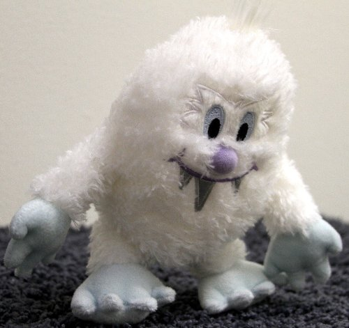 Rare Out of Production Disney 8 Inch Plush Bean Bag Snow Monster Yeti Doll