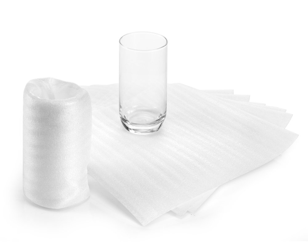 Foam Pouches | UCGOU 9.5'' x 9.5'' Foam Cushioning Wrap Pouch as Dish Wrap and Glassware Packing Supply- Safely Wrap Cup, China, Glass | Packing Supplies Used for Moving | 1/16'' Thick 50-Pack by UCGOU (Image #3)