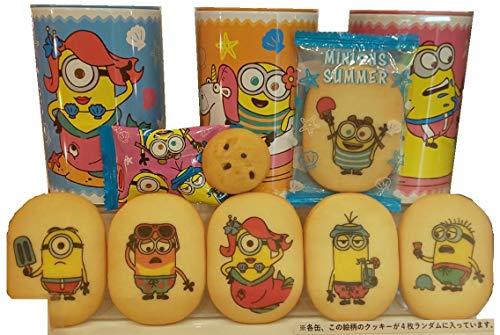미니언즈 프린트 쿠키 아소토 쿠키 3 캔 24 개 세트 USJ 상품 유니버설 스튜디오 재팬 [MINIONS SUMMER]