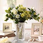 Vivid Fake Simulation Flower/Plant Gardenia Flowers Artificial Silk Bouquets Wedding Home Decoration (Color : Yellow, Size : One Size)