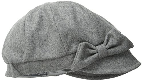 (San Diego Hat Company Women's Wool Cap with Self Fabric Bow, Grey, One Size)