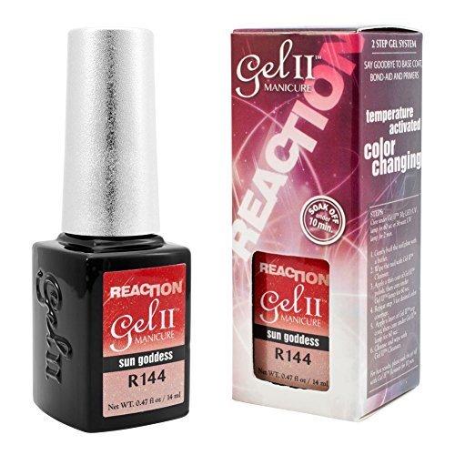 GEL II Reaction REMIX Color Changing Nail Mood Polish Orange