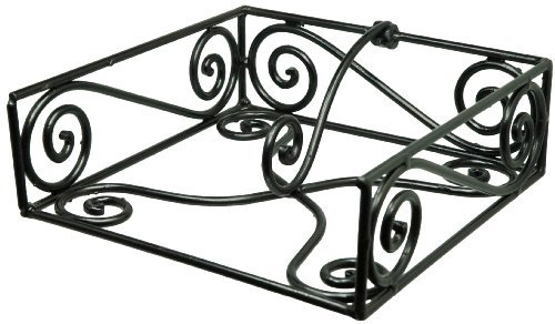 Wrought Iron Napkin Holder - Black Village Scroll Luncheon Napkin Holder