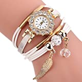 AutumnFall Women Flower Gemstone Quartz Watches Bracelet Wristwatch,Gift For Lady Girl,Style 4