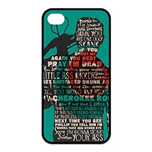4S Case,TPU Iphone 5/5S,The Walking Dead Design Fashion Pattern Hard Back Cover Snap on Case for Iphone 5/5S (Black/white)