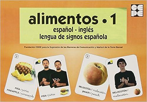 Alimentos 1. Baraja Español-inglés. Lengua De Signos Española PDF Descargar Gratis