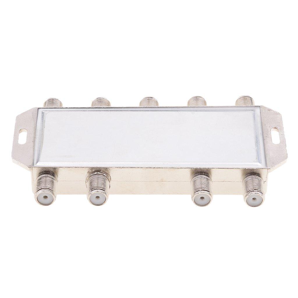Homyl Interruptor FTA 8x1 DiSEqC Antena Satelital para Receptor FTA 8 En 1 Multi LNB LNBF