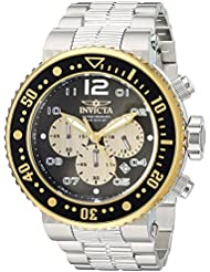 Invicta Mens Pro Diver Quartz Stainless Steel Casual Watch, Color:Silver-Toned (Model: 25075)