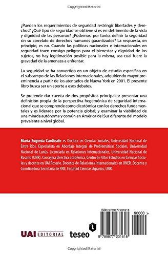 Seguridad internacional y derechos humanos: En busca de una mirada autónoma para América del Sur (Spanish Edition): María Eugenia Cardinale: 9789877231618: ...