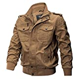 Stay With Me Mens Winter Cotton Bomber Jacket Coat Plus Size Casual Air Force Flight Jacket Windbreaker Men,Style 2 Khaki,XL