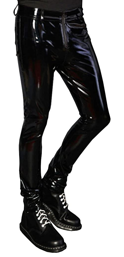 Lip Service Mens Gothic Glossy PVC Vinyl Fetish Turbo Lover Skinny Jeans Pants (32) at Amazon Mens Clothing store: