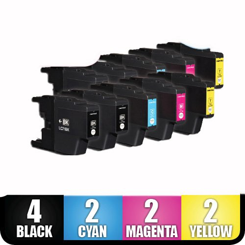 Eaplanet Brother Compatible Ink (New Set of 10 LC75 High Yield Compatible Ink Cartridge Combo (4xBk, 2xC, 2xM & 2xY) For MFC-J280W, MFC-J425W, MFC-J430W,MFC-J435W, MFC-J5910DW, MFC-J625DW, MFC-J6510DW, MFC-J6710DW, MFC-J6910DW, MFC-J825DW,)