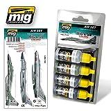 Ammo of Mig MiG & SU COLORS Grey & Green Fighters Acrylic Set 4 Jars 17ml #7204