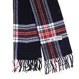 Plaid Cashmere Feel Classic Soft Luxurious Winter Scarf For Men Women (Tartan Black)