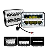 4 x 6'' Led Sealed Beam (One Pair) Headlight High/Low Beam With Parking Light Replace HID Xenon H4651 H4652 H4656 H4666 H6545 Fit for Peterbilt Kenworth Freightliner