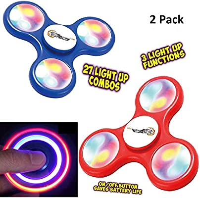 Top Race Fidget Spinner Finger Spinner Toy con luces LED (juego de 2): Amazon.es: Juguetes y juegos
