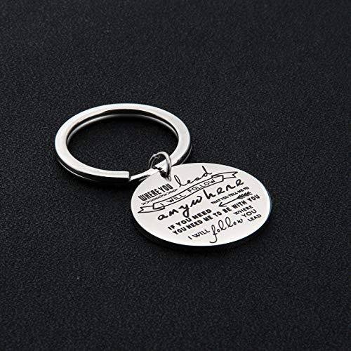 AKTAP Gilmore Girls Gifts Mother Daughter Keychain Where You Lead I Will Follow (Follow You Keychain) by AKTAP (Image #2)