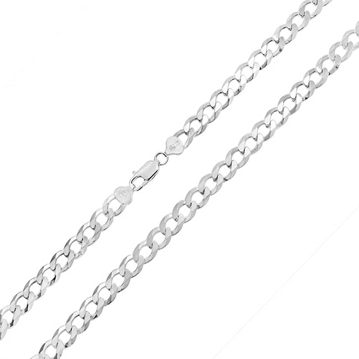 Bling Jewelry Mens 925 Silver Italian 250 Gauge Cuban Curb Link Necklace