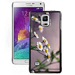Flowers Daisies Blurring Hard Plastic Samsung Galaxy Note 4 Protective Phone Case