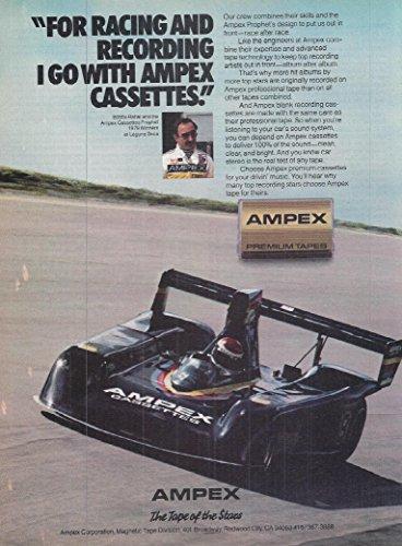 (1980 Vintage Audio Electronics Advertisement Ampex Cassettes Tapes)