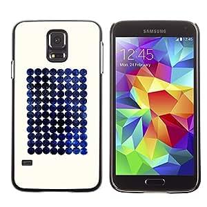 LECELL--Funda protectora / Cubierta / Piel For Samsung Galaxy S5 SM-G900 -- Blueberry Space Minimalist Checkered --