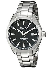 SO & CO New York Men's 5039B.1 Madison Analog Display Japanese Quartz Silver Watch