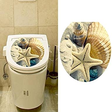 Hatop Toilet Seat Wall Sticker Decals Vinyl Art Wallpaper Removable Decor (E)