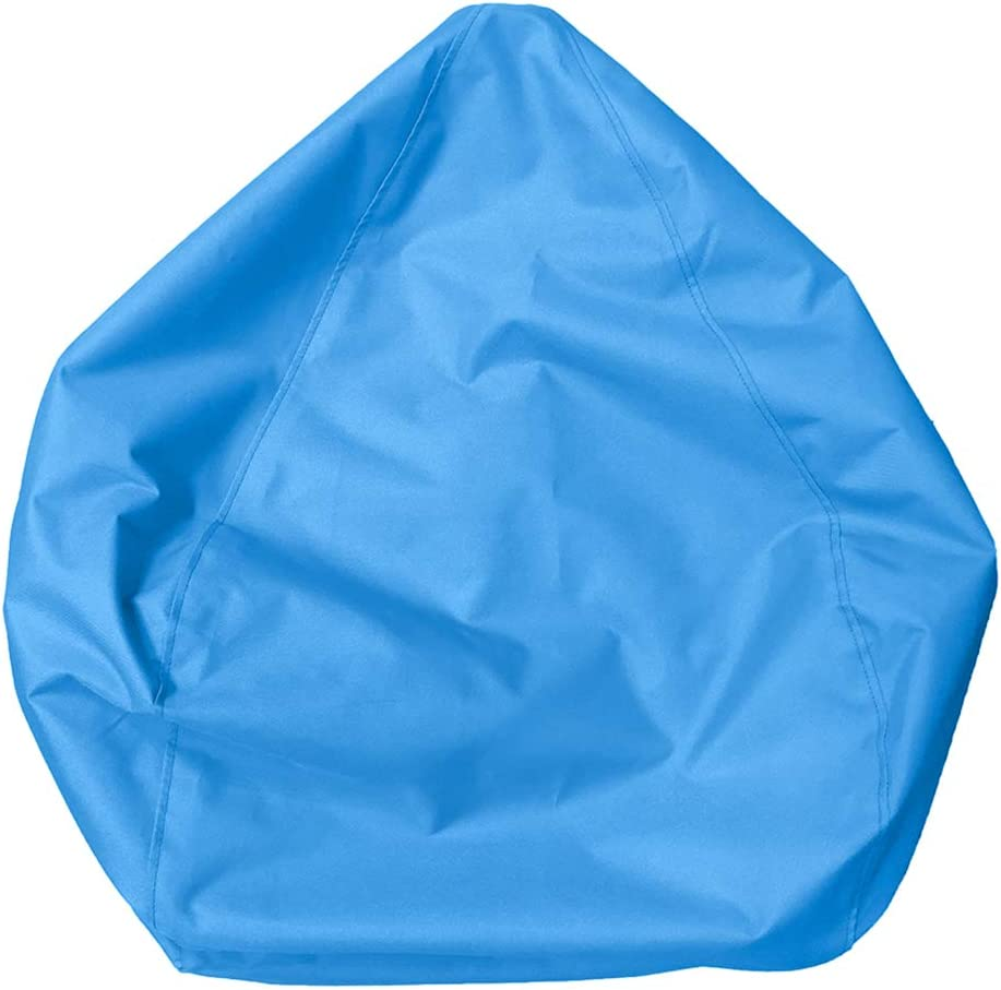 FLAMEER Set of 2 Stuffed Animal Storage Bean Bag Chair Covers for Kids, Teens and Adults - 11 Colors - Gray Sky Blue